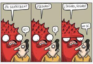 monstruo habla con persona