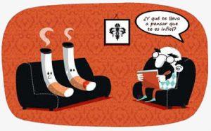 dos cigarros en la consulta del psicólogo