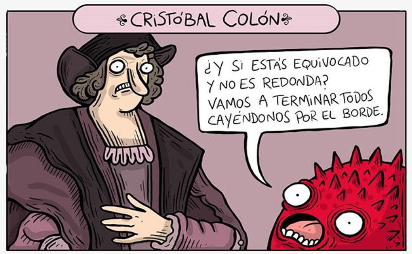 cristobal color habla con un monstruo rojo