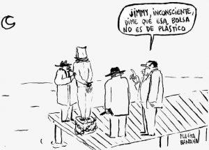 hombres en muelle sobre el mar